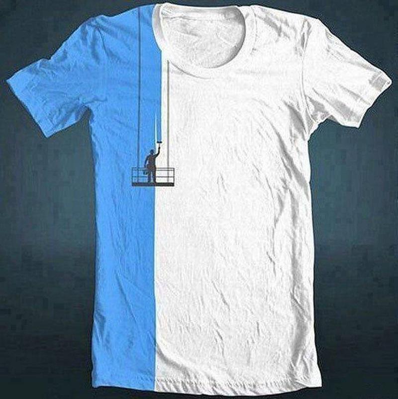 Интересный дизайн для футболок своими руками